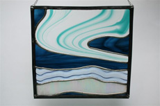 Northern Lights - stained glass